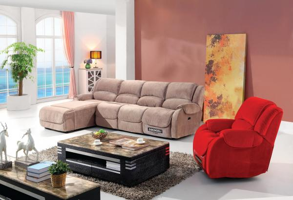 Modern fabric sectional sofas