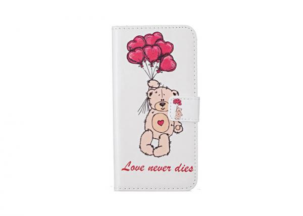 Quality Balloon Bear Personalized Smartphone Cases Tpu Material Flip Wallet Type for sale