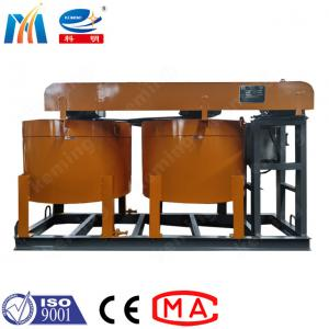 China 5.5 Kw One Electrical Engine Two Barrel Grouting Mixer With Mixing Blade wholesale