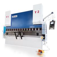 China 4+1 axis servo controlled CNC hydraulic press brake WE67K-300T/3200 for sale on sale