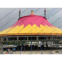 Buy cheap Special Customized PVC Event Tent , Red And Yellow PVC Tarp Tent Roof Cover With from wholesalers