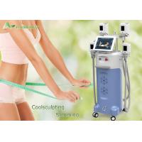 Cryo Handles Body Fat Freezing Cryolipolysis Machine / Cryotherapy Machine That Freezes Fat Cells
