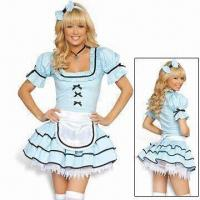 China Sexy Alice Costume, Includes Headpiece, Apron, Dress and Petticoat on sale
