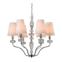 China 6 Light Clear K9 Crystal Chandelier NC1241P-6CR wholesale