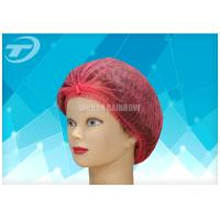 China RED PP Disposable Surgical Caps For Nursing  / Surgical Bouffant Caps wholesale