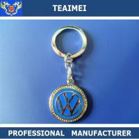 China CE Emblem Car Keychains With Metal Key Holder For Decoration wholesale