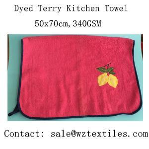 China Factory direct sale dyed 100% cotton kitchen towel tea towel wholesale