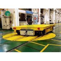 China Motorized Industrial Turntable On Cross Rails For Mold Transfer Trolley on sale