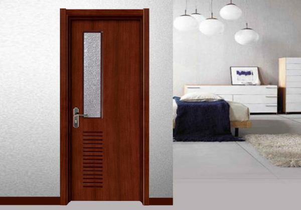 "Quality 32""X80"" Wooden Flush Door Glass Ventilation Wenge Veneer Commercial Office Building for sale"