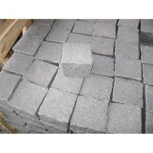China G654 paving stone,dark granite cobble stone wholesale