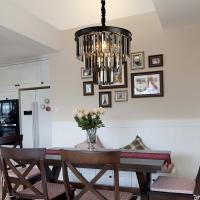 Buy cheap Black Crystal Hanging Chandeliers Drop Hanging Lights For Dining room Kitchen from wholesalers