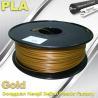 China 1.75mm /  3.0mm Gold PLA 3d Printer Filament 100% biodegradable wholesale