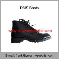 China Wholesale Cheap China Army British Style Black Ankle Military DMS Combat Boot on sale
