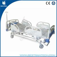 China Motorized ICU Electric Hospital Beds With 4 - Part Steel And ABS Handrails wholesale