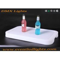 Battery charge plastic beer bottle storge LED rank with wine holder plate
