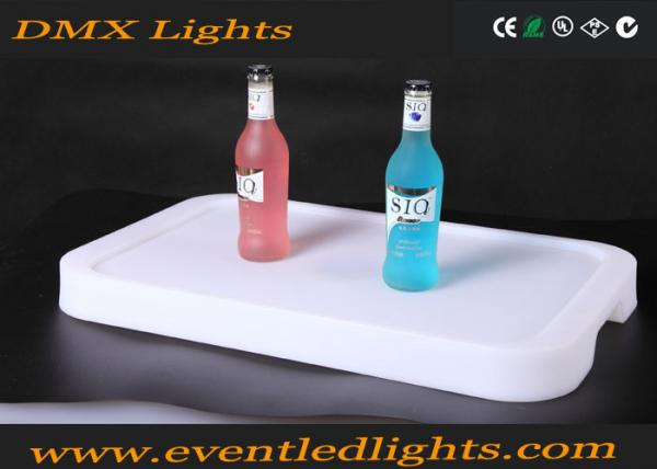 Quality Battery charge plastic beer bottle storge LED rank with wine holder plate for sale