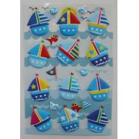 Saling Boat 3D Foam Puffy Stickers For MP3 , CellPhone