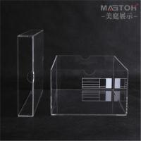 China Lucite transparent acrylic normal lid shoe storage box stackable with MOQ Customized clear acrylic sneaker display box on sale