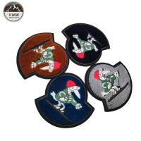 China Ski Villain 3D Embroidery Patches Toothbrush Material Any Color Available wholesale