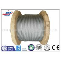 China Galv Elevator / Aircraft Wire Rope Zinc Coated With 1570-1960MPA Tensile Strength wholesale