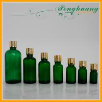 Green Glass Essential Oil Bottles with Gold PP Cap 100 ml 50 ml 30 ml