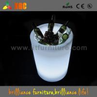 China Club / Bars / Party Clear Illuminated Ice Bucket Plastic Infrared Remote Control on sale