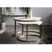 China Golden Color Round Marble Coffee Table for Hotel Furniture Environment-friendly wholesale