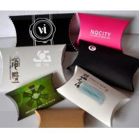 2017 custom recycled paper pillow box packaging supplier with your artwork printing
