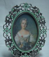 China metal picture frame oval photo frame wholesale
