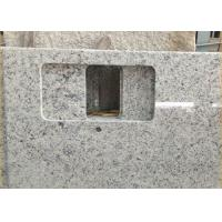 China Giallo Sf Real Solid Granite Worktops For Kitchen / Bathroom White Color wholesale