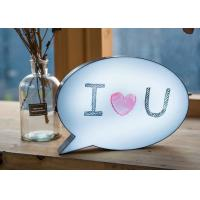 China Restaurant Acrylic LED Light Box Slim Light Up Speech Bubble Write On Lightbox on sale