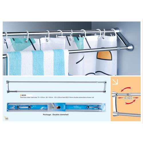 ... Shower curtain rods and towel bars, shower curtain bars, shower rods