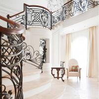 China Deck/balcony/stair railing, wrought iron fence, cast iron railing,outdoor iron railing wholesale