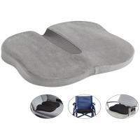 China Orthopedic Car Driver Memory Foam Seat Cushion With Zippered Cover wholesale