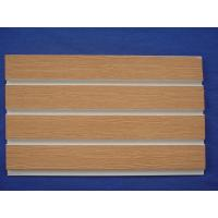 China Wood Grain Smooth Cellular PVC Slatwall Display Panels With Long Life Time wholesale