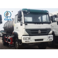 China new HOWO 4x2 8M3 Vacuum Sewage Suction Tanker Truck For Sale 266hp engine wholesale