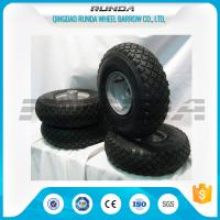 China Small Size Pneumatic Rubber Wheels , Pneumatic Swivel Caster Wheels136KG In 2PR wholesale