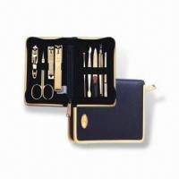 China Manicure Set with Butterfly Zipper Pocket, Made of Stainless Steel, OEM Orders are Welcome wholesale