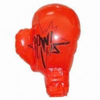 China PVC inflatable boxing gloves with 4 color plating wholesale