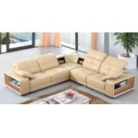 China luxury living room genuine leather sectional corner sofa with storage L type home sofa wholesale
