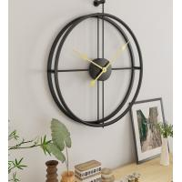 China 55cm Large Hollow Silent Wall Decor Modern Design Hanging Clock For Retro Home Decor Style Hanging Wall Clock wholesale