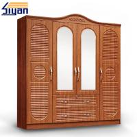 China Indoor Custom Made Louvered Closet Doors , Shutter Wardrobe Doors 4 Drawers Front on sale