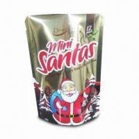 China Stand-up Chocolate Bag with Bottom Gusset, Tear Notch and Great Printing wholesale