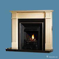 China Marble Fireplace Surround Marble Fireplace Mantel Surround Wear Resistant on sale