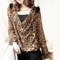China Women's Casual Jacket, Made of 100% Chiffon, Various Sizes Available on sale