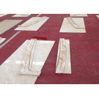 China Cream Onyx Natural Marble Tile Hammered Solid Surface Grade A Quality wholesale