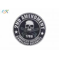 China Polyester Background Material Motorcycle Leather Vest Patches Skull Shape wholesale