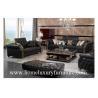 China 革ソファーの古典的なソファーは黒い革ソファーの木の居間の家具TI-003を置きます wholesale