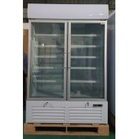 China Double Glass Door Commercial Refrigerator , Drink Display Cooler With LED Light Box wholesale