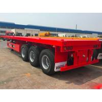 China Semi Flatbed Container Trailer 40 Ft Gooseneck Trailer Large Loading Capacity on sale